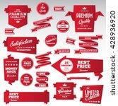 vintage labels set   origami... | Shutterstock .eps vector #428936920