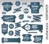 vintage labels set   origami... | Shutterstock .eps vector #428936929