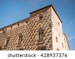 famous casa de las conchas with ...   Shutterstock . vector #428937376