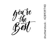 you're the best card. positive...   Shutterstock .eps vector #428939740