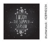 hand sketched summer element...   Shutterstock .eps vector #428940154