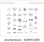 sacred geometry. set of minimal ... | Shutterstock .eps vector #428941300
