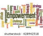 empowerment  word cloud concept ... | Shutterstock . vector #428942518