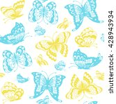 Butterflies Seamless Pattern....