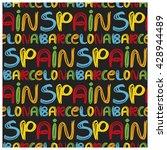 antonio gaudi mosaic. triangle... | Shutterstock . vector #428944489