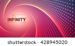 vector infinite round twisted... | Shutterstock .eps vector #428945020