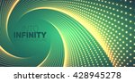 vector infinite round twisted... | Shutterstock .eps vector #428945278