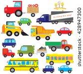 big set of vector cars  dumper  ... | Shutterstock .eps vector #428947300
