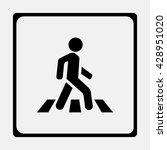crosswalk icon. | Shutterstock .eps vector #428951020