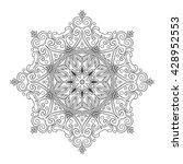 hand drawn outline mandala for...   Shutterstock .eps vector #428952553