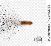 bullet shot smashed the glass... | Shutterstock .eps vector #428953786