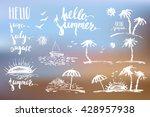 hand drawn summer design... | Shutterstock .eps vector #428957938