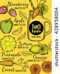 juice menu placemat drink... | Shutterstock .eps vector #428958004