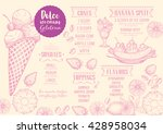 ice cream menu placemat food... | Shutterstock .eps vector #428958034