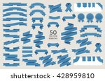 vector banner ribbons. set of... | Shutterstock .eps vector #428959810