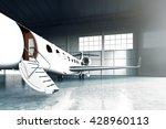 closeup photo of white matte... | Shutterstock . vector #428960113