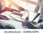 project meeting. team...   Shutterstock . vector #428964394