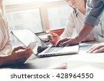 team work process. marketing... | Shutterstock . vector #428964550