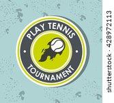 play tennis design    Shutterstock .eps vector #428972113