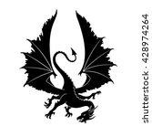 Dragon Silhouette. Vector...