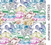 Retro Car Collage