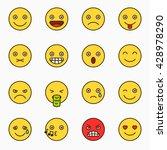 emoticons set  yellow website... | Shutterstock .eps vector #428978290