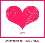 love card with heart | Shutterstock .eps vector #42897838