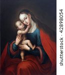 Blessed Virgin Mary With Baby...
