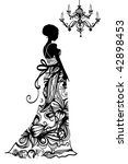 wedding dress  vector   Shutterstock .eps vector #42898453