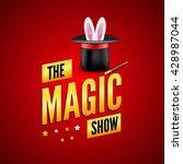 magic poster design template....   Shutterstock .eps vector #428987044