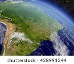 brazil with surrounding region... | Shutterstock . vector #428991244