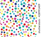 colorful abstract dot... | Shutterstock .eps vector #428991409