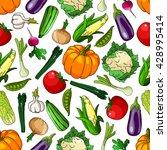 organic farm grown vegetables... | Shutterstock .eps vector #428995414