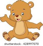 cartoon teddy bear waving hand | Shutterstock .eps vector #428997070