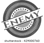enemy with pencil strokes | Shutterstock .eps vector #429000760
