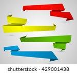 origami paper infographic... | Shutterstock .eps vector #429001438