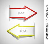 vector arrow banners set.... | Shutterstock .eps vector #429001678