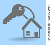 the key to his house vector... | Shutterstock .eps vector #429001984