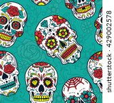 day of the dead colorful sugar... | Shutterstock .eps vector #429002578