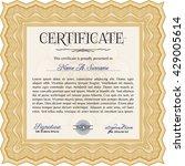 certificate template eps10 jpg... | Shutterstock .eps vector #429005614