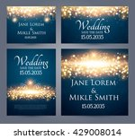 wedding invitation cards... | Shutterstock .eps vector #429008014