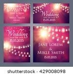 wedding invitation cards... | Shutterstock .eps vector #429008098