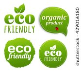 ecology green labels  | Shutterstock . vector #429016180