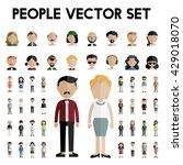 diversity community people flat ... | Shutterstock .eps vector #429018070