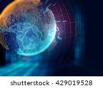 earth futuristic technology...   Shutterstock . vector #429019528