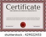 certificate. complex design.... | Shutterstock .eps vector #429022453