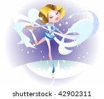 skater on ice dancing with a...   Shutterstock .eps vector #42902311