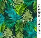 palm leaf seamless pattern. | Shutterstock .eps vector #429023290