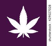 marijuana leaf vector icon.... | Shutterstock .eps vector #429027028