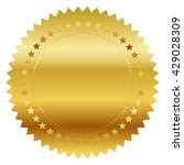 vector illustration of gold seal | Shutterstock .eps vector #429028309